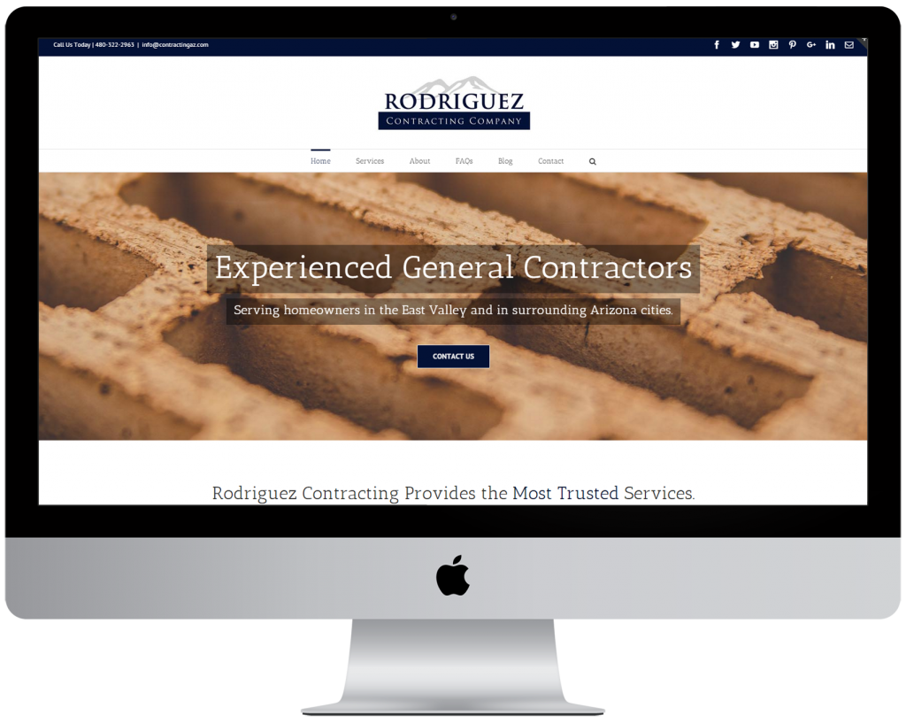 General Contractor and Remodeling Company Website Design in Phoenix Arizona