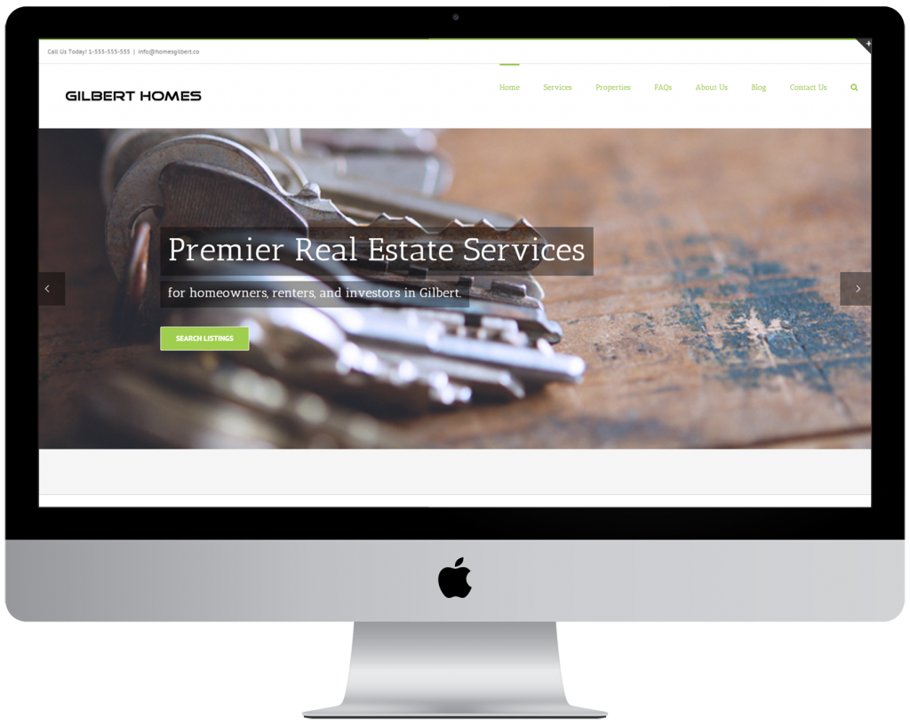 Professional web design services for real estate agents in Gilbert Arizona